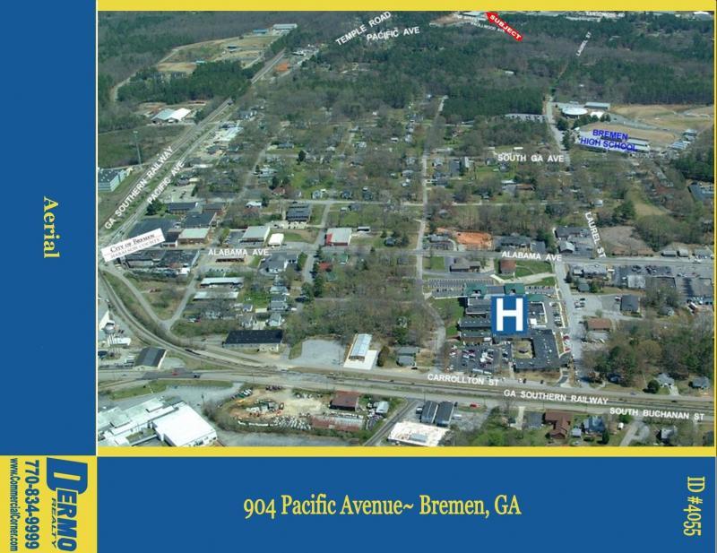 #4055 - 1.61 Acres w/ Good Condition warehouse/office buliding in Bremen, Georgia
