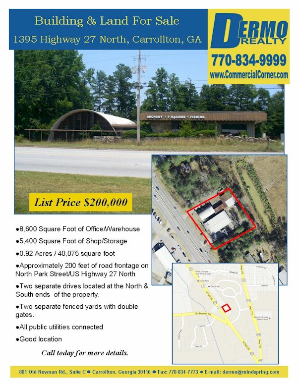 #1215 - 1395 Highway 27 North, Carrollton, Georgia - Commercial Property