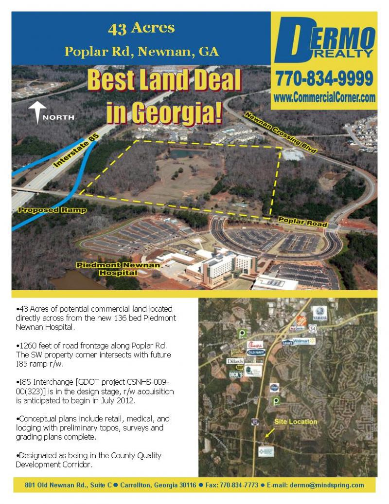 #9503 - Best Land Deal In Georgia - 43 Acres Newnan, Georgia