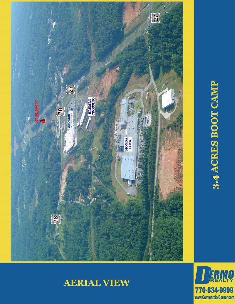 #4007 - 3.4 Commercial Acres on Highway 27 in Bremen, Georgia